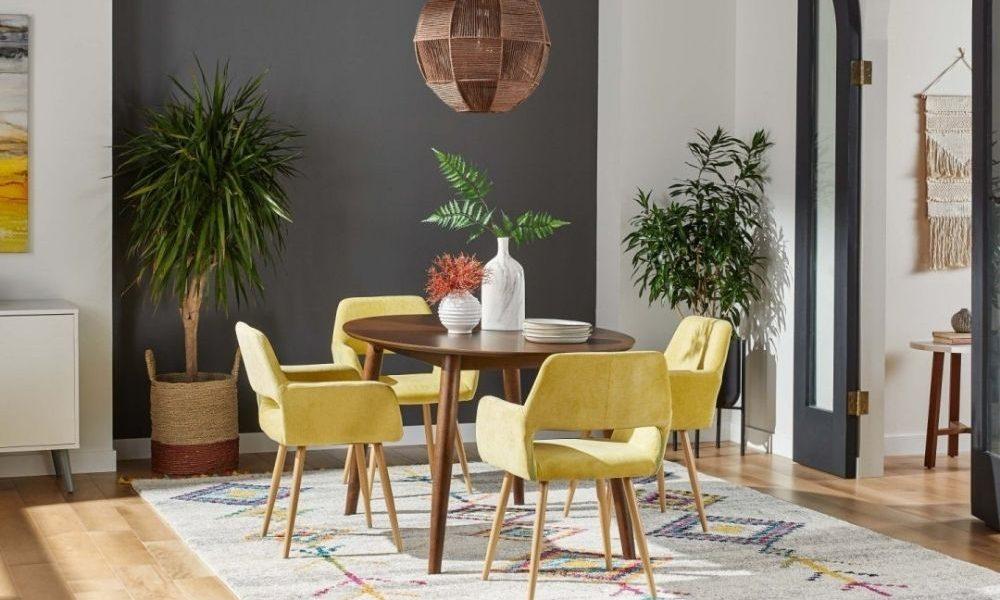 mid century dining room decor