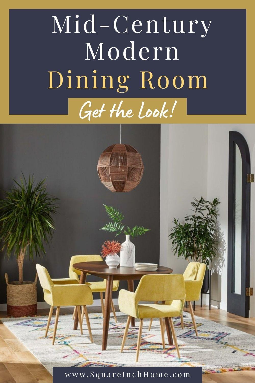 mid century modern dining room decor pinterest