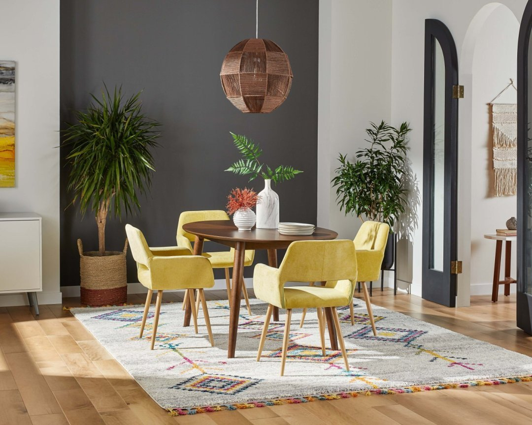 mid century modern dining room decor