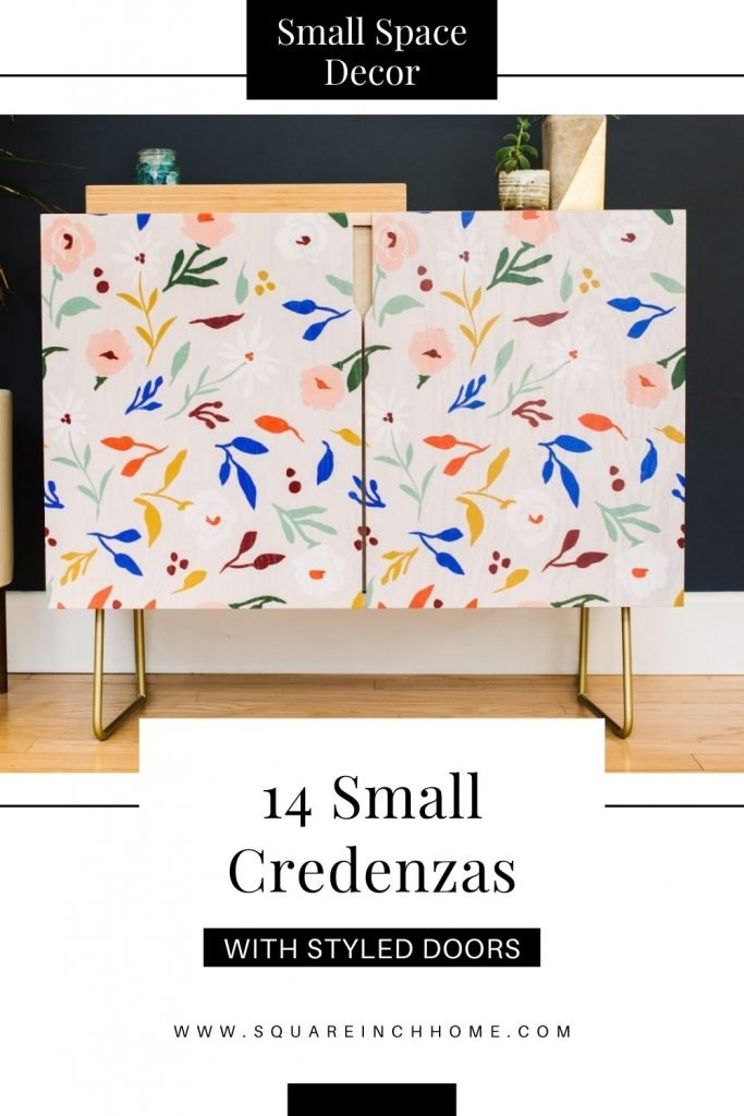 small modern credenza for small spaces