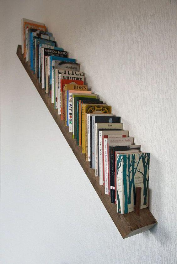 staircase bookshelf book storage ideas