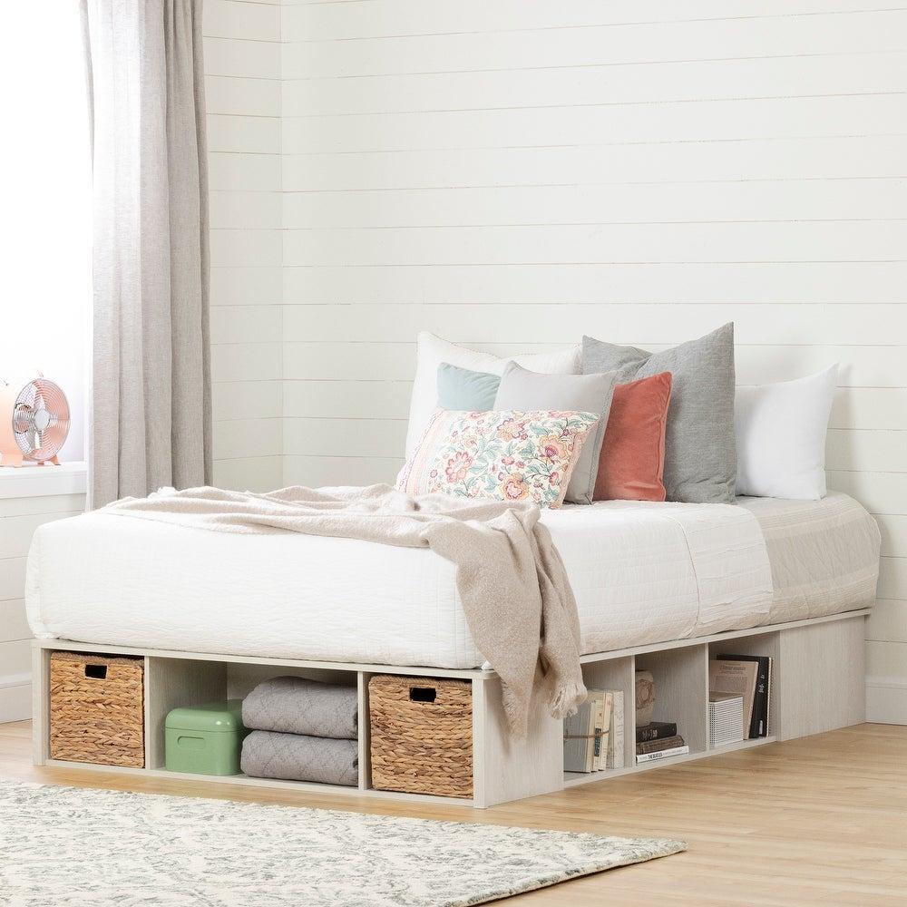 platform bed with storage underneath