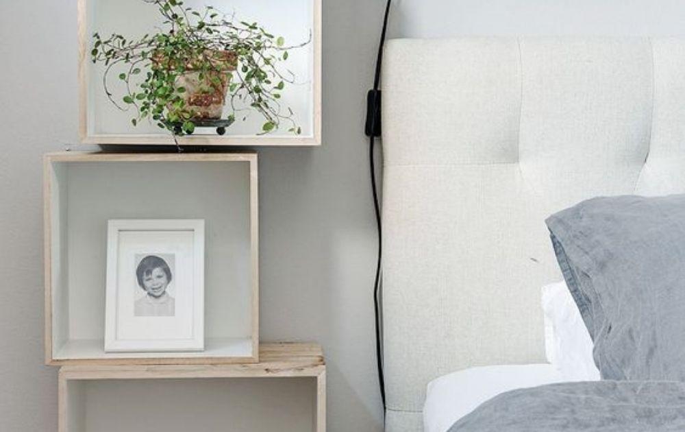 creative nightstand alternatives for small bedroom