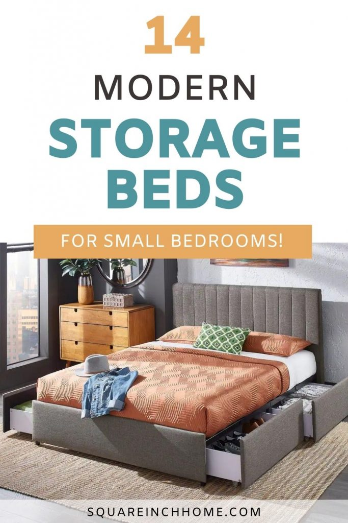 modern storage beds for small bedroom