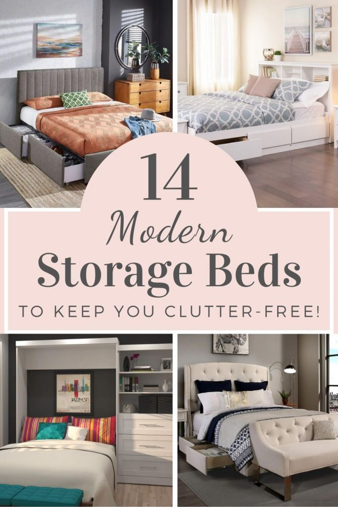 modern storage beds for small spaces